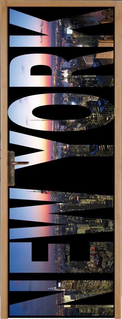 Aufkleber für Tür Flach New York 83x204cm Ref 052
