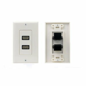 HDMI Wall Plate Face Panel Cover Coupler Outlet Ports Coax F-Type RCA RBG HDTV
