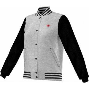 Details about Adidas Bulls Varsity Jacket Sports Jacket Womens Grey Jacket College Size 34 44 NEW show original title