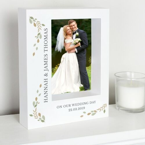 Wedding Picture Photo Box Frame Anniversary Gift Can be Wall Hung Personalised