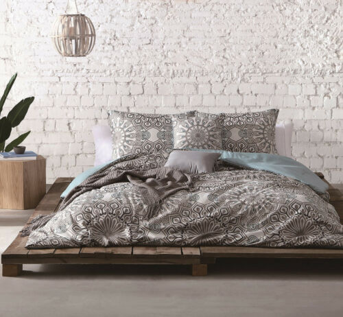6 Piece Phebe Gray//Taupe Comforter Set