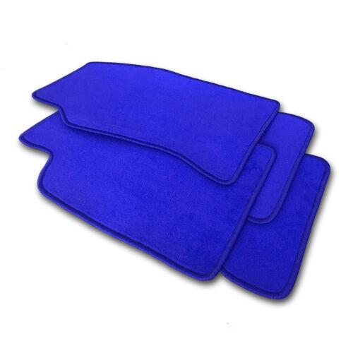 Velours Fußmatten Royalblau Randfarbe wählbar  für Ford Transit Custom ab Bj 201