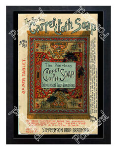 Historic-Peerless-Carpet-amp-Cloth-Soap-1890s-Advertising-Postcard