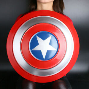 Escudo Capitan America Hierro, Cosplay Para Niños 47 Cm Metal Shield New
