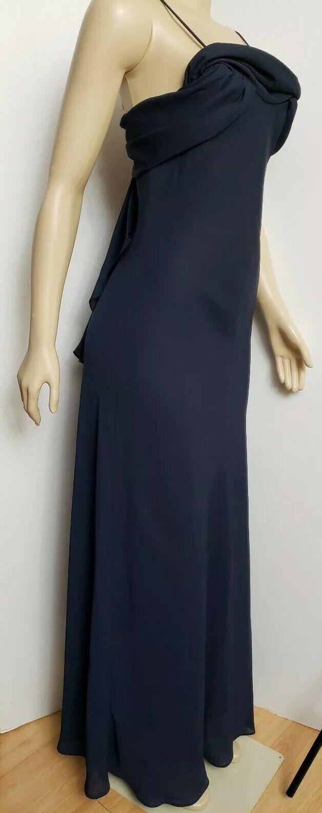 Betsy & Adam by Jaslene dress maxi formal sheath ruffle Spaghetti straps Size 10