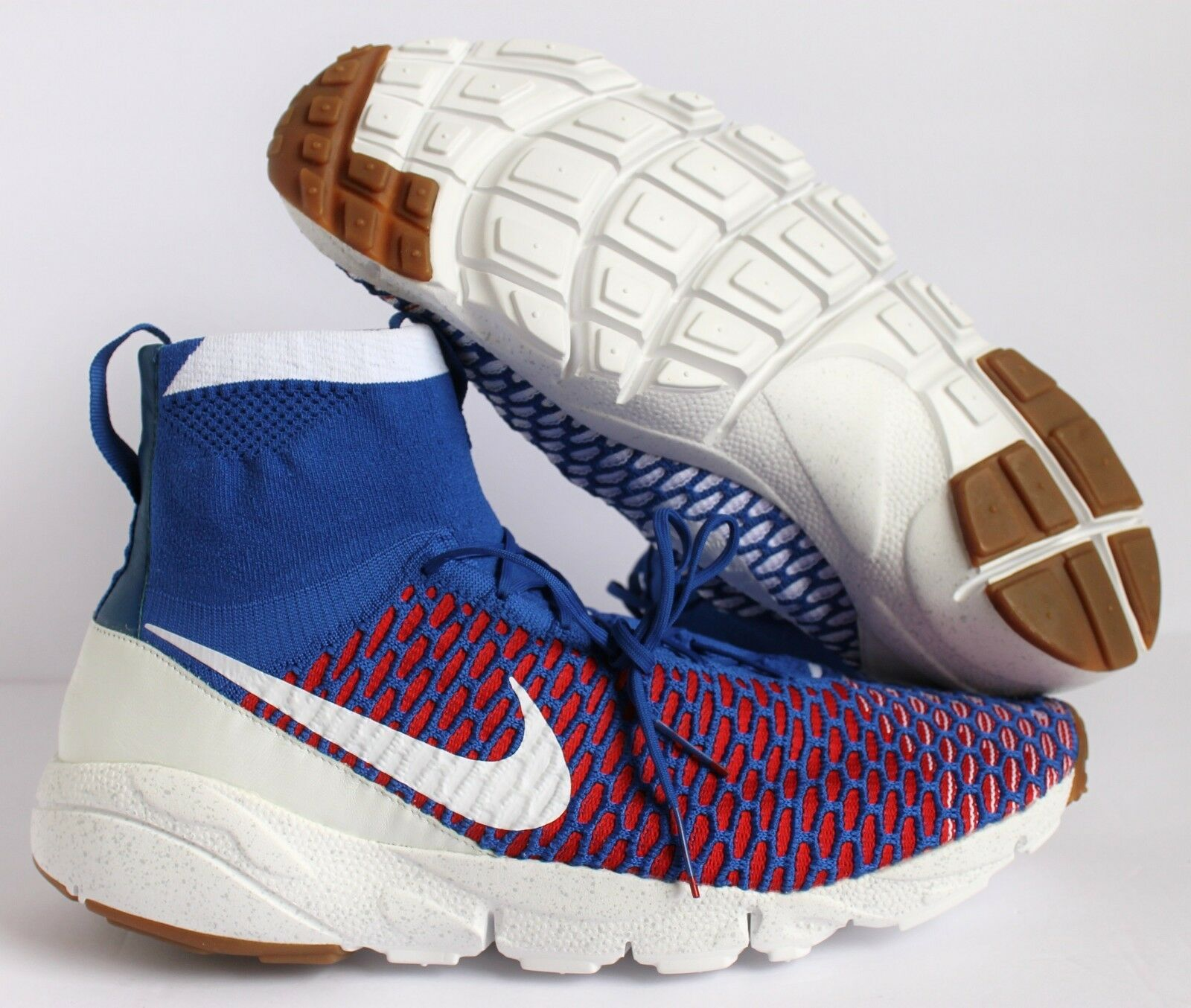 NIKE AIR FOOTSCAPE MAGISTA SP GYM ROYAL/UNI RED-WHITE SZ 13 [652960-401]