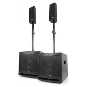 Aktiv-PA-Lautsprecher-Set-Topteil-Subwoofer-Bass-1000-Watt-DJ-Club-Party-MP3
