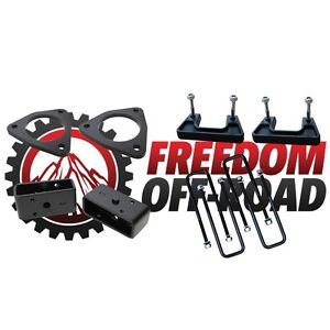 """Freedom OffRoad 2.5/"""" Front Leveling Lift Spacer Kit 2007 Silverado Sierra 1500"""