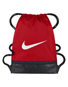 ddfd5fbc9b Image is loading Nike-BRASILIA-Training-Gymsack-Drawstring-Backpack -University-Red-