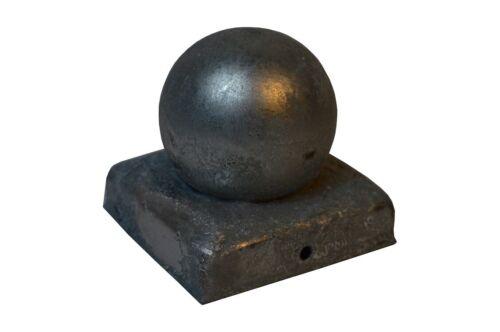 Kugel verzinkt Pfostenkappe Abdeckkappe Zaun Kappe Pfostenabdeckung Pfosten 9x9