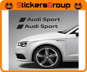 100% Vrai Adesivi Fiancata Anteriore Audi Sport In Vinile