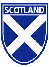 Scottish Car Bumper Window Sticker DecalSt. Andrews Saltire Scotland Shield Flag