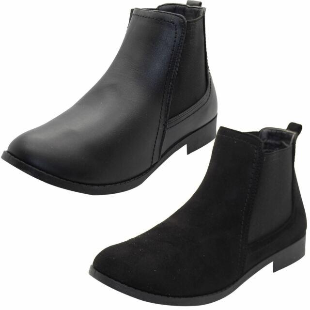 Ladies Faux Suede Chelsea Ankle Boots