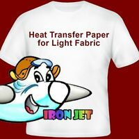 Inkjet Heat Transfer Iron On Paper For Light Color Fabric:11by 17 -50sheets
