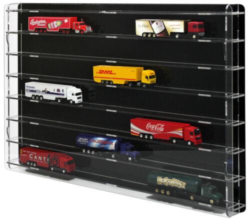 Sora modelltruckvitrine 1:87 con coperchio posteriore NERO per 21 Trucks