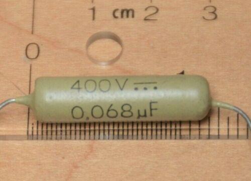1 x Phillips Mullard Mustard .068uf 400v 400volt  Audio Grade Film Capacitor