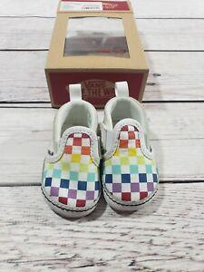 rainbow checkered vans for girls