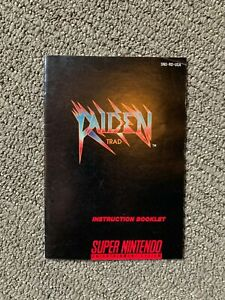 SNES-Raiden-Trad-Instruction-Booklet-Manual-Only-Authentic-No-Game
