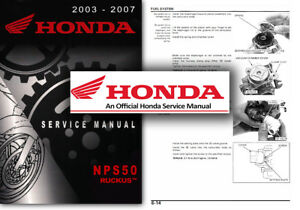 Honda-NPS50-Ruckus-Zoomer-Service-Workshop-Repair-Shop-Manual-NPS-50-Scooter