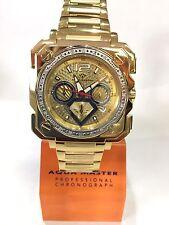 Men Aqua Master Jojo Jojino Joe Rodeo Yellow Metal Band 45mm Diamond Watch W#355