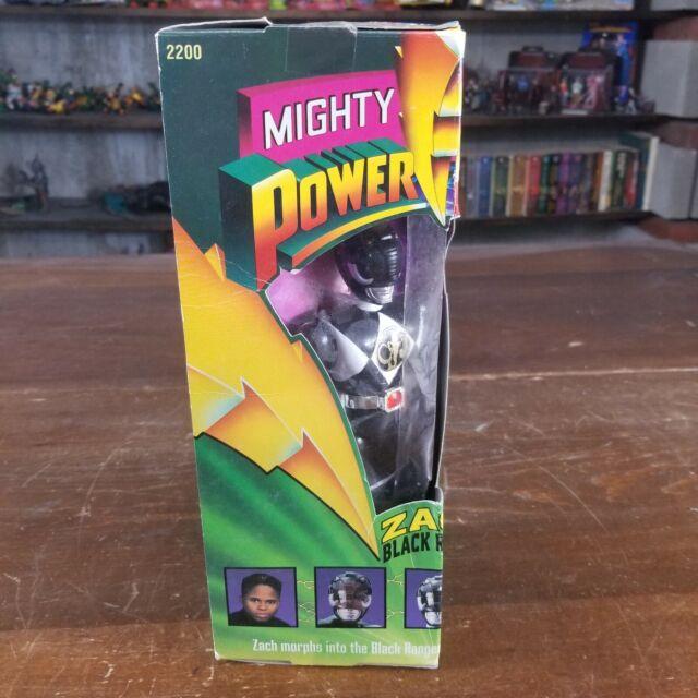 "ZACH (BLACK RANGER) 8"" - MMPR POWER RANGERS - BAN DAI 1993 - NEW IN BOX"