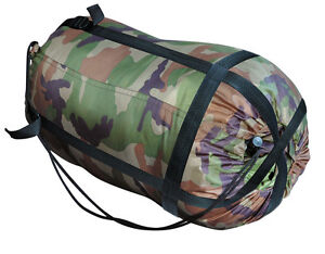 Army-Mumien-Schlafsack-US-Woodland-Camouflage-tarn-camo-Jaeger-Angler-Camping-BW