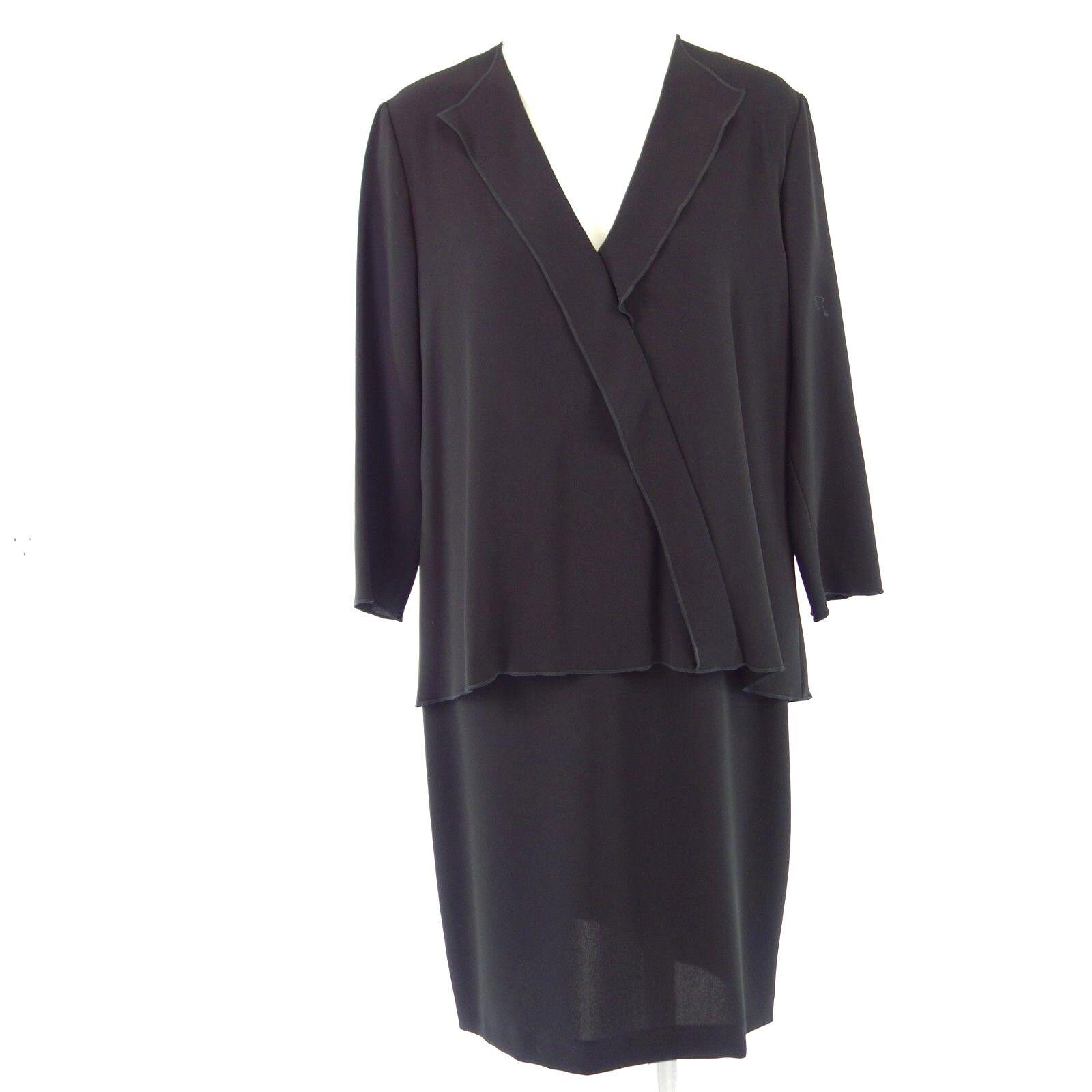 RIANI Damen Kleid 776260 2975 38 40 Schwarz Elegant Lagenlook Elegant NP 319 NEU