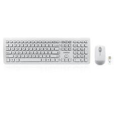 Perixx PERIDUO-703W DE, USB Funk Tastatur Maus Set - 10m Reichweite -Weiß