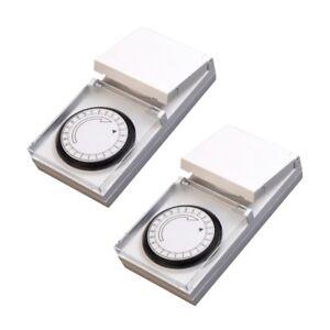 588527828dc4 2 piezas Lex Reloj de TIMER PARA EXTERIOR TEMPORIZADOR ENCHUFE para ...