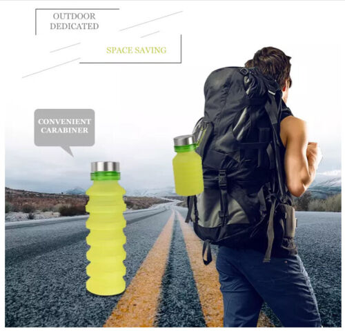 Light Foldable Reusable Travel Silicon Bottles FDA Collapsible Water Bottle