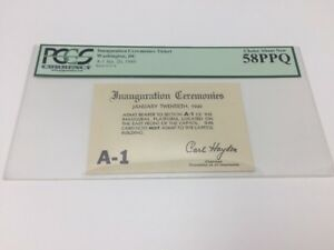 1949-PRESIDENT-HARRY-S-TRUMAN-Inauguration-VIP-PLATFORM-Section-A-Ticket-PCGS