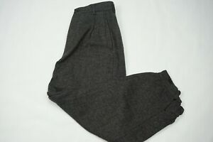Comme-des-Garcons-Homme-Plus-Gray-Tweed-Workwear-Btn-Cuff-Jodhpur-Pants-Sz-S