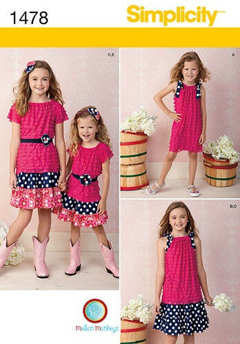 SALE SUMMER CLOTHES 3~6 MAKE GIRLS SKIRT~KNIT TOP OR DRESS SEWING PATTERN