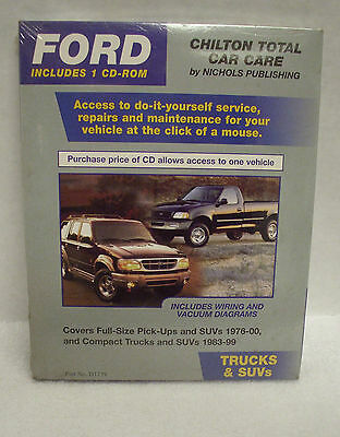 Chilton Total Car Care Ford Trucks /& Suv/'s Repair Manual CD NEW