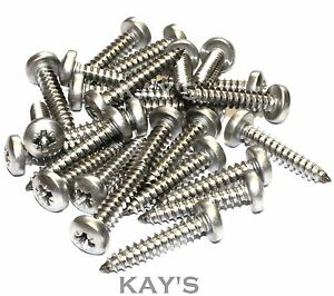 20 Pk. No.10 x 19mm Stainless Steel Self Tapping Screws Type B