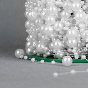 Perlengirlande-Zuschnitt-1m-10m-10-Farben-Perlenschnur-Hochzeit-Taufe-Deko