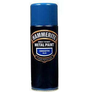 about hammerite 400 ml smooth metal blue aerosol spray paint x 6. Black Bedroom Furniture Sets. Home Design Ideas