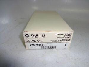 Allen-Bradley-1492-W10-W-Terminal-Block-50A-600V-10mm-White-Box-of-50