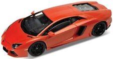 WELLY 1:24 W/B LAMBORGHINI AVENTADOR LP700-4 Diecast Car Model Orange Color