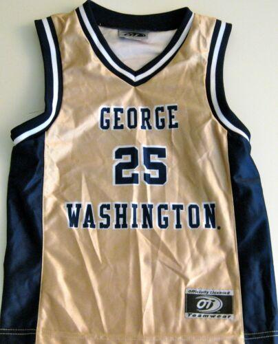 LG MD. OR 2XL GEORGE WASHINGTON COLONIALS MENS BASKETBALL JERSEY NCAA #25 NEW