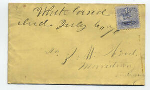 1870-Whiteland-IN-manuscript-on-3ct-1869-114-cover-y3625