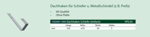 SCHLETTER 102001-000 Dachhaken PREFA