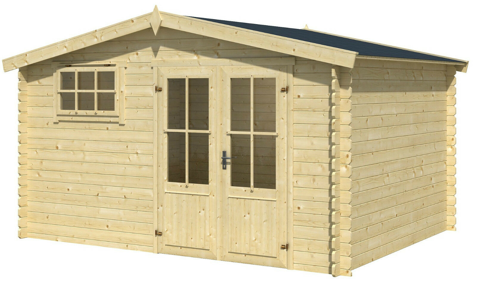 28 mm gartenhaus 4x3 m 4x4 m ger tehaus blockhaus for Fenster 400x400