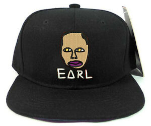688a31851e09 Odd Future OFWGKTA EARL FACE Stitched Embroidered Wolf Gang Snapback ...