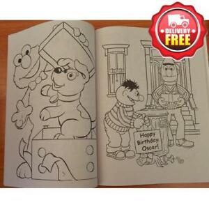 Details About Sesame Street Kids Colouring Activity Book Oscar Grover New Licensed