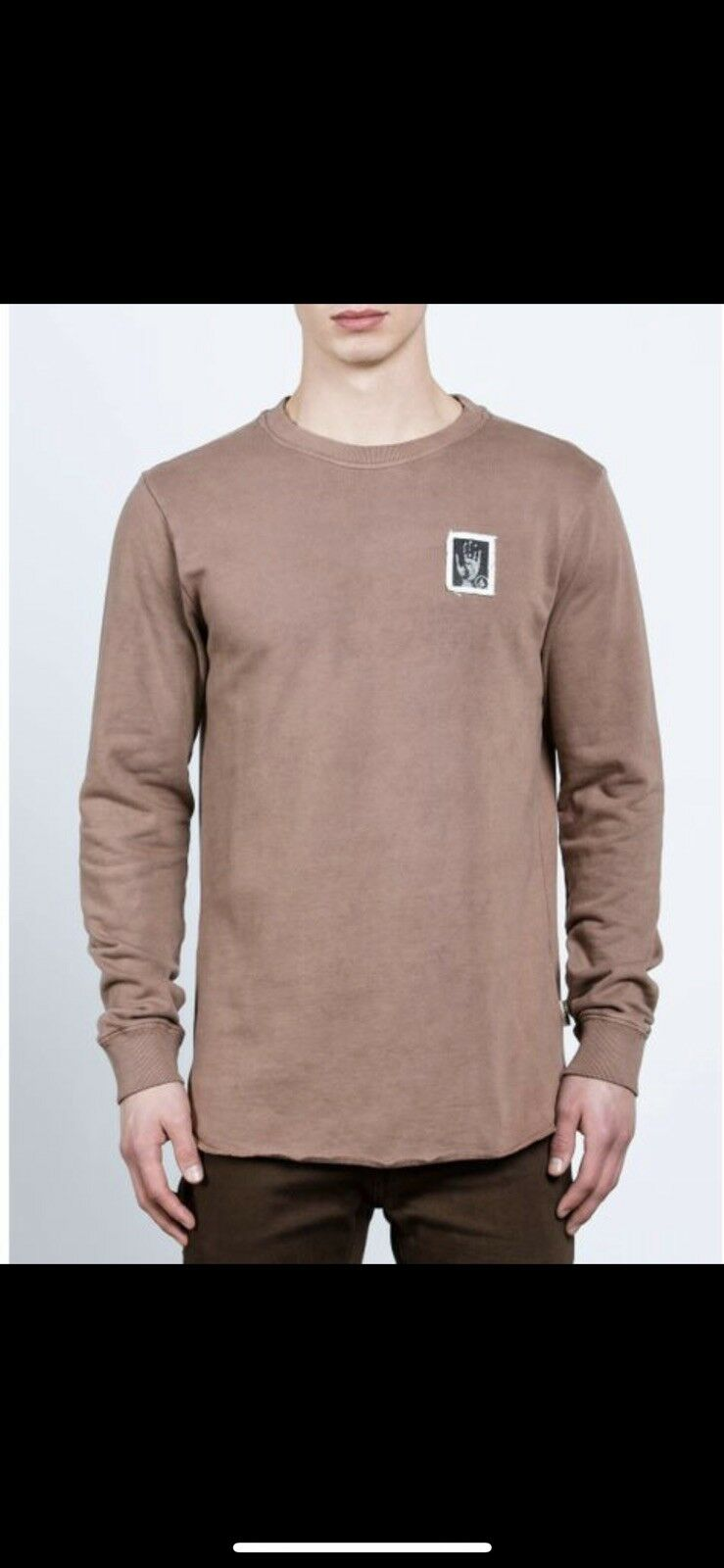 Volcom Men's Cassette Crew Sweatshirt - Dusty Brown - S