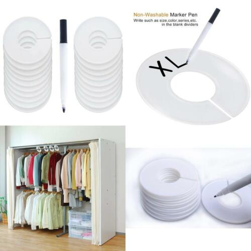 Baby Closet Size Div 20 Pack Clothing Rack Size Dividers Round Hangers Dividers