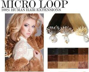 50-100-200-0-5-gr-EASY-LOOP-EXTENSIONS-DE-CHEVEUX-A-FROID-NATURELS-micro-ring