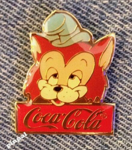 Disney Pin~Gideon~cat~Pinocchio Movie~15th anniversary~WDW~1986~Coca Cola~Coke