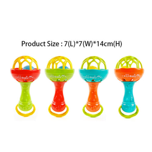 Hot 1pc Rattles Gums Plastic Hand Bell Educational Toys Cute Baby Gifts Newest
